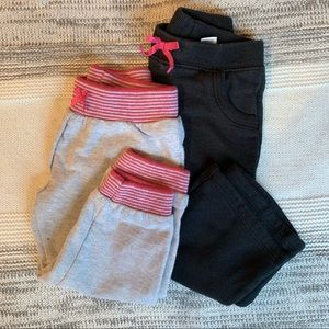 Other - Toddler girl sweatpants, gray and black